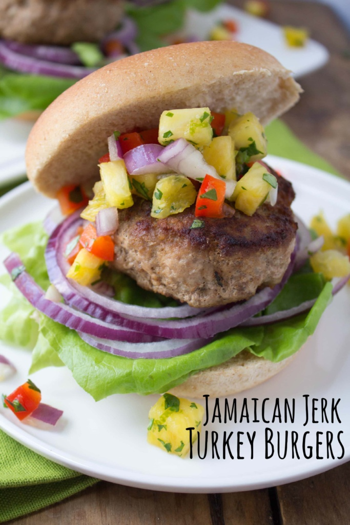 fANNEtastic food – Jamaican Jerk Turkey Burgers with Pineapple Salsa