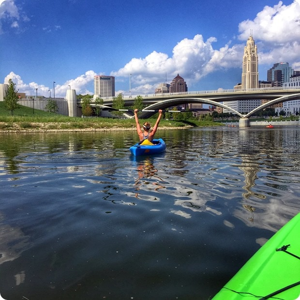 kayaking in columbus