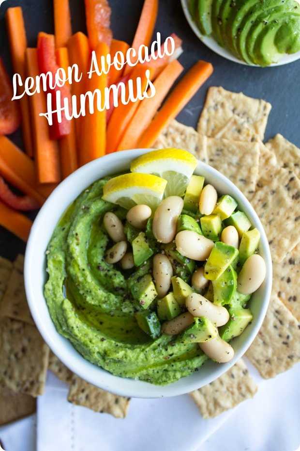lemon avocado hummus recipe