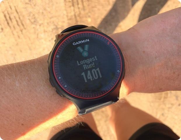 long run record congrats from garmin watch