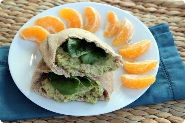 tuna salad packed lunch