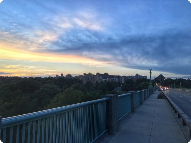 walking from dupont to woodley park dc sunset