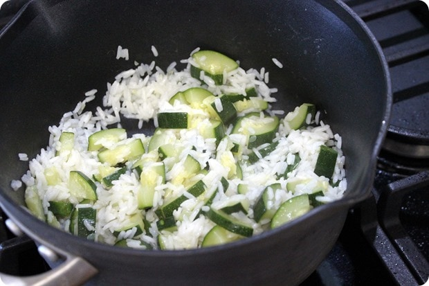 lime zucchini rice