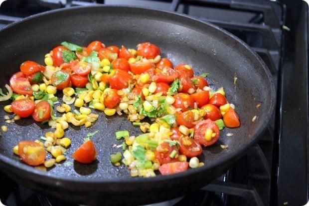 tomato corn saute