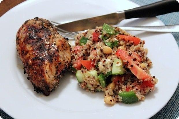 green tea quinoa salad with chicken
