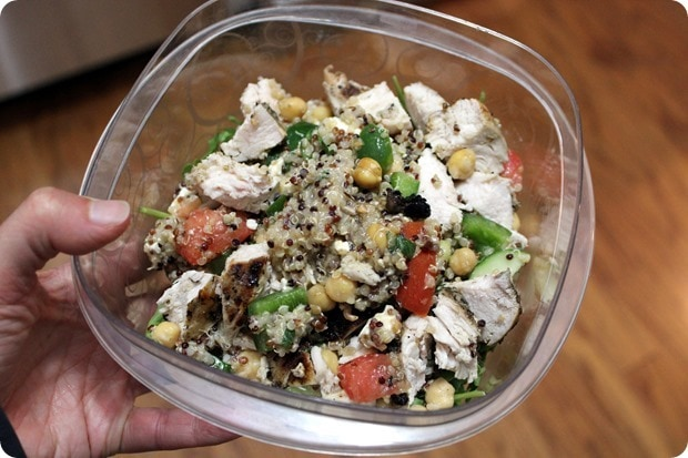 chicken quinoa salad packed lunch