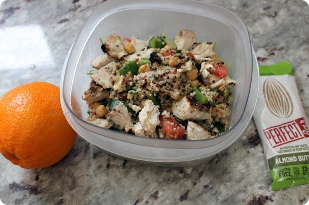 easy chicken quinoa packed lunch
