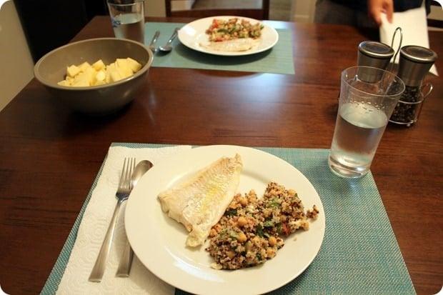 fish marinated with lemon juice olive oil