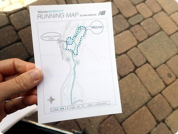 westin workout running map
