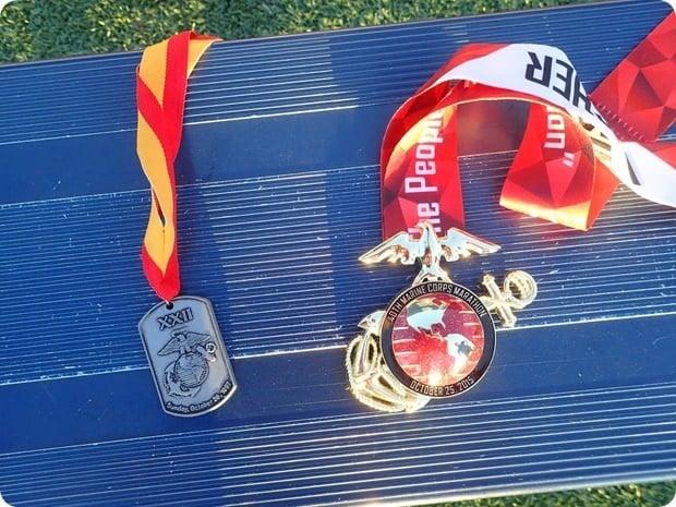 marine corps marathon medals 1997 and 2015