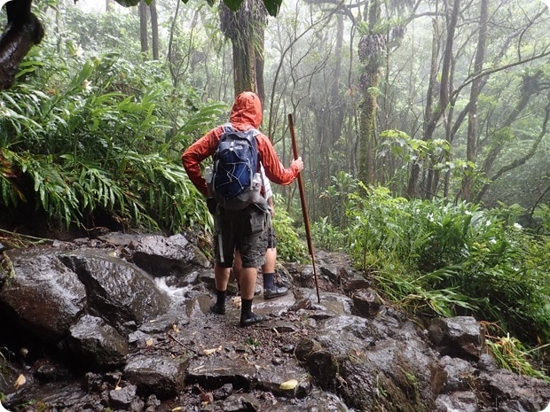 mount haleakala national park rainy hike