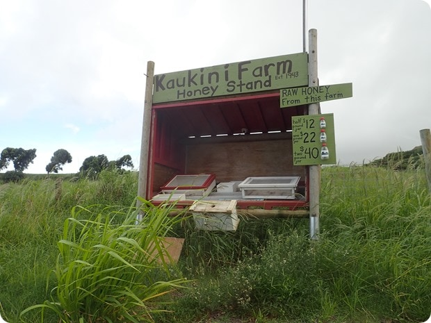 kaukini farm honey stand
