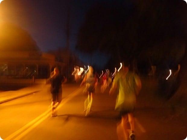maui half marathon start dark