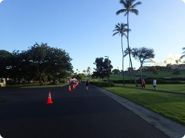 maui half marathon finish area