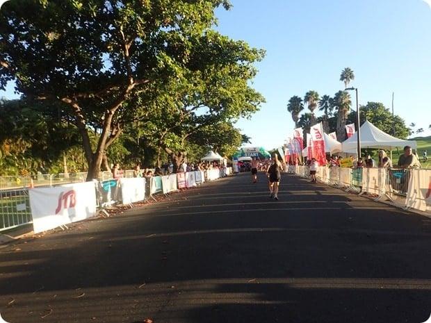 maui half marathon finish