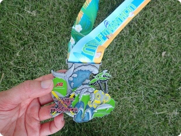 maui half marathon race medal