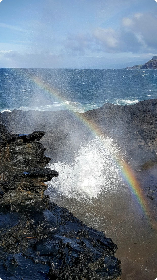 maui blow hole rainbow