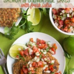Easy Salmon Brown Rice Cakes with Fresh Salsa