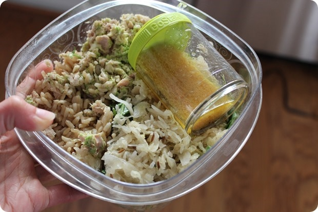 tuna rice bowl packed lunch