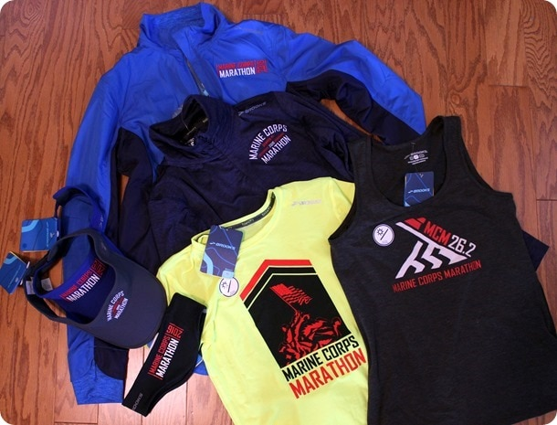 brooks marine corps marathon branded gear 2016