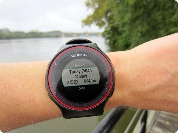 15 mile marathon training run