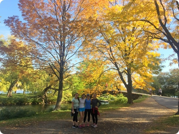 running in boston fall colors