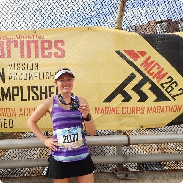 marine corps marathon finish