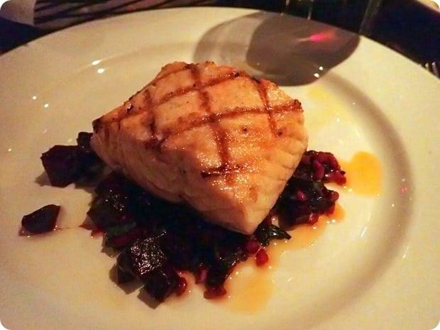 salmon farro beets