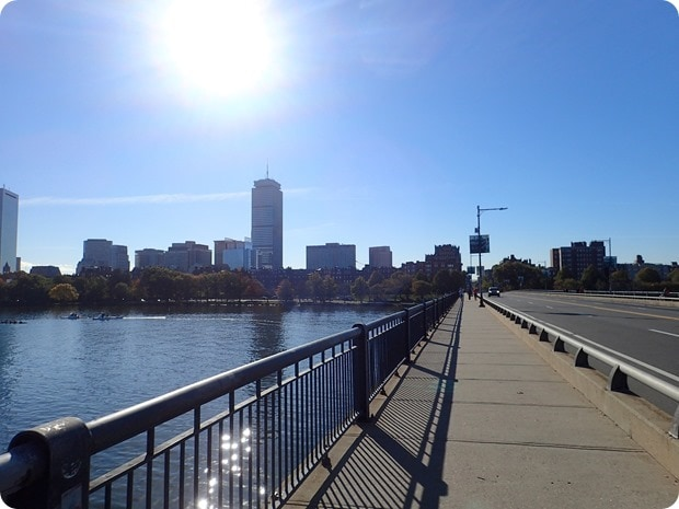 boston running fall bridge