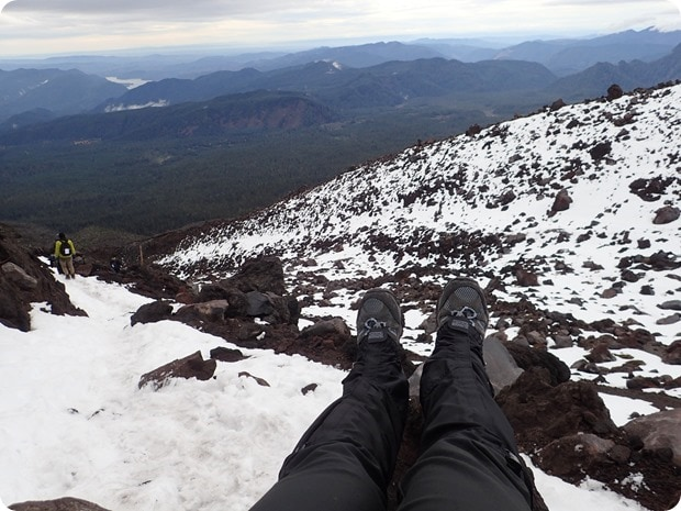 snow hiking mt st helens