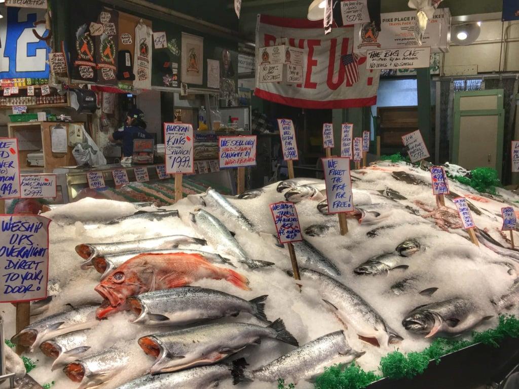 Fish at public market Seattle