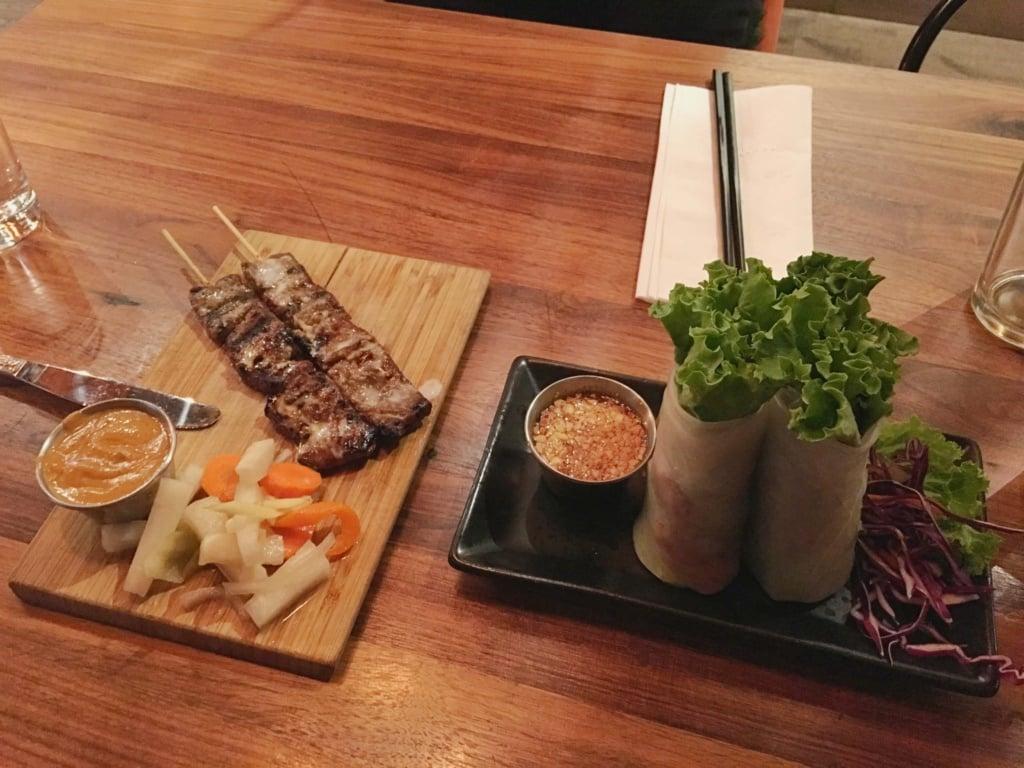 Indo Asian street eatery fresh spring rolls