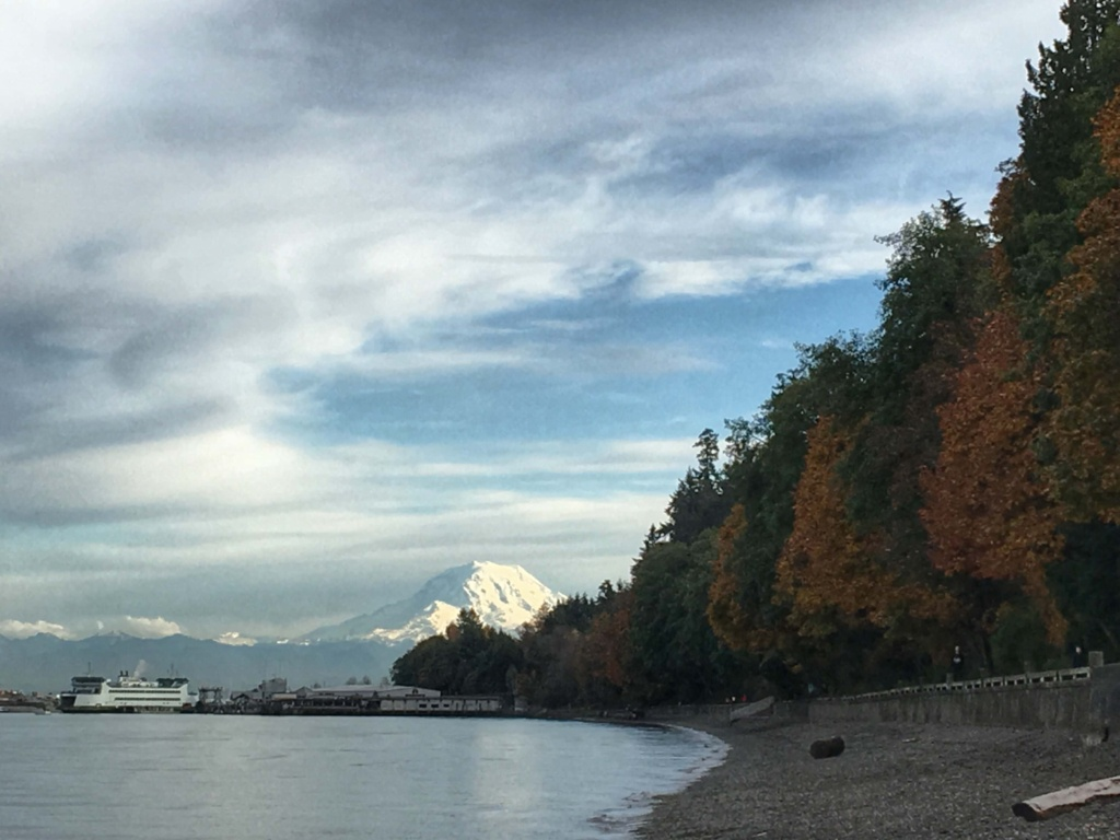 Mount rainier view from point defiance
