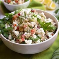 Mediterranean Green Tea Quinoa Salad
