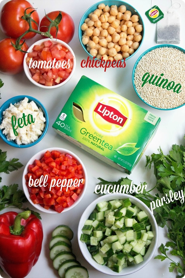 mediterranean green tea quinoa salad ingredients