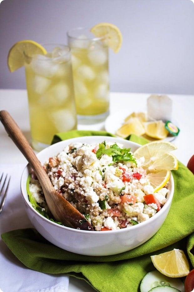 mediterranean green tea quinoa salad recipe