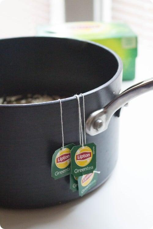 mediterranean green tea quinoa salad step 1