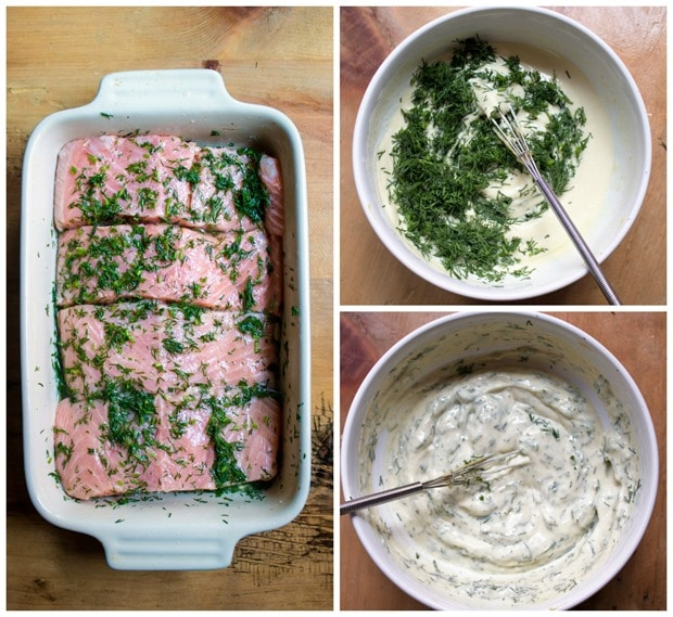 how to make salmon with lemon mustard dill sauce