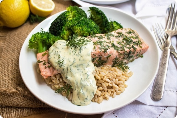 salmon with mustard dill sauce 5