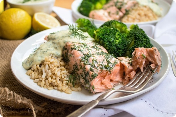 salmon with mustard dill sauce 8