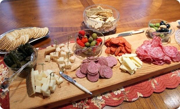appetizer cheese board