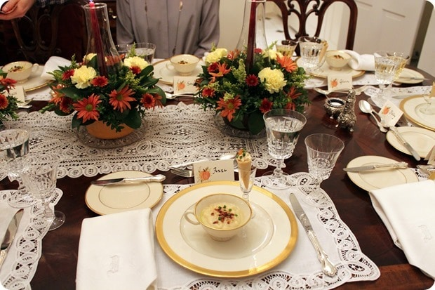 thanksgiving dinner soup course