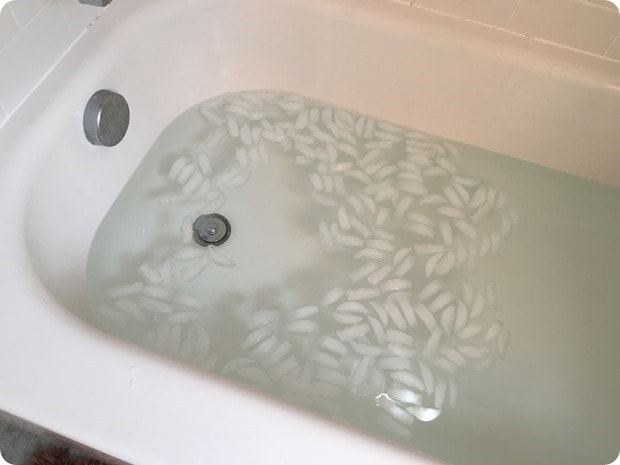 post long run ice bath