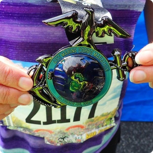 marine corps marathon 2016 medal