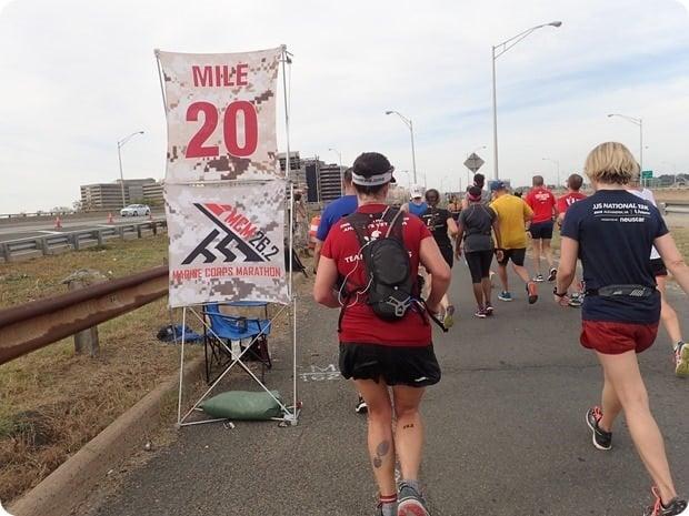marine corps marathon mile 20