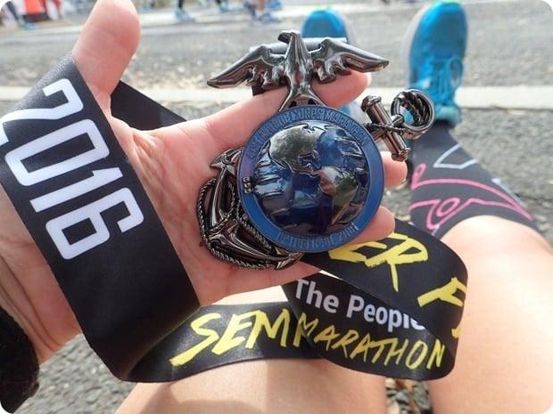 marine corps marathon finishers medal 2016