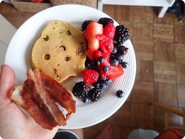 post-marathon breakfast