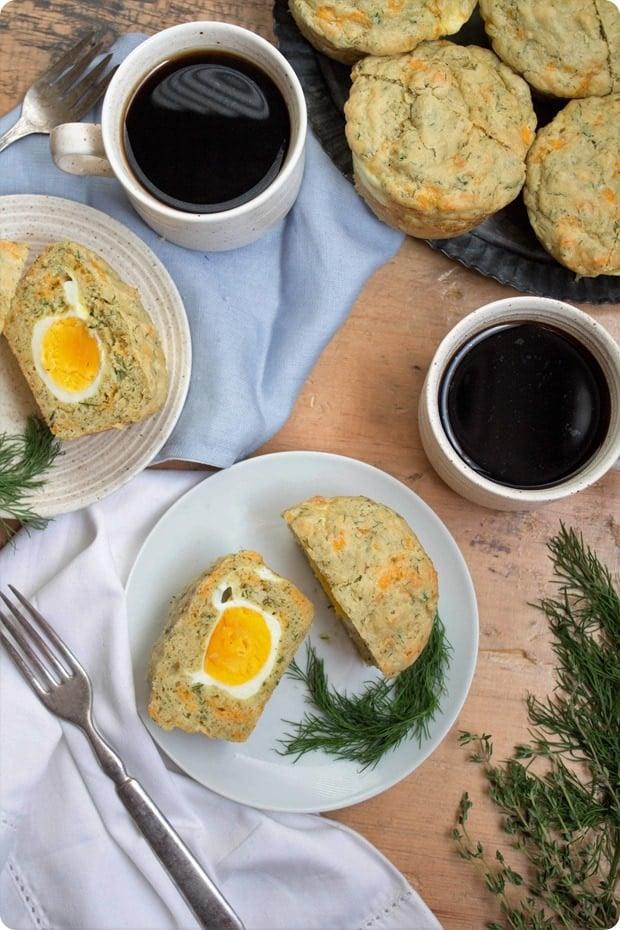 gluten free hard boiled egg muffins