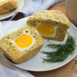 Hard Boiled Egg and Cheddar Muffins
