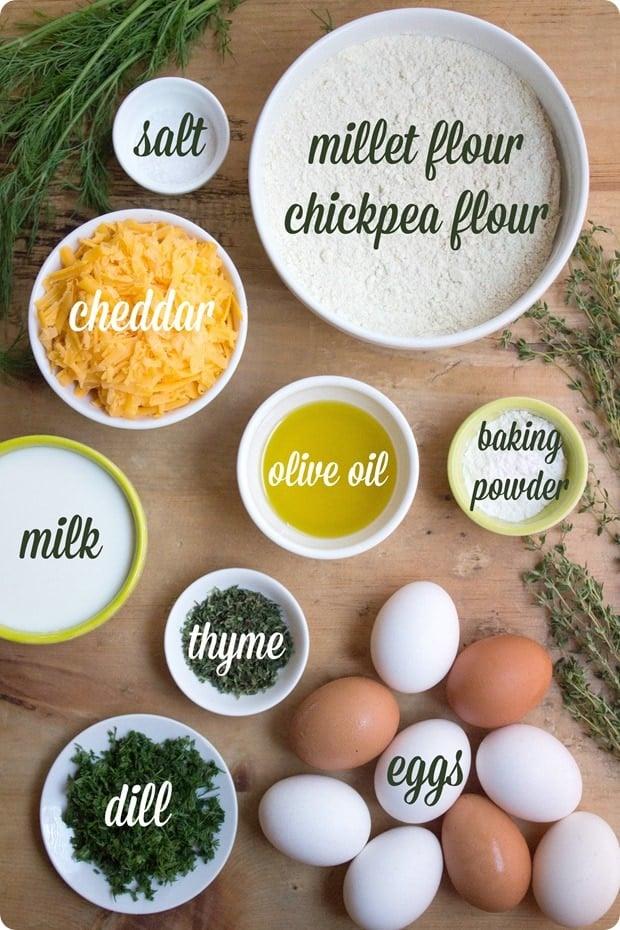 ingredients for hard boiled egg muffins